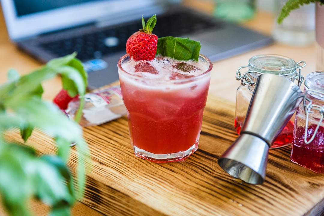 The Strawberry Basil Smash