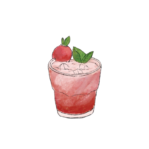 Strawberry basil smash cocktail